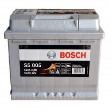 Aku Bosch S5005 63Ah 610A -/+